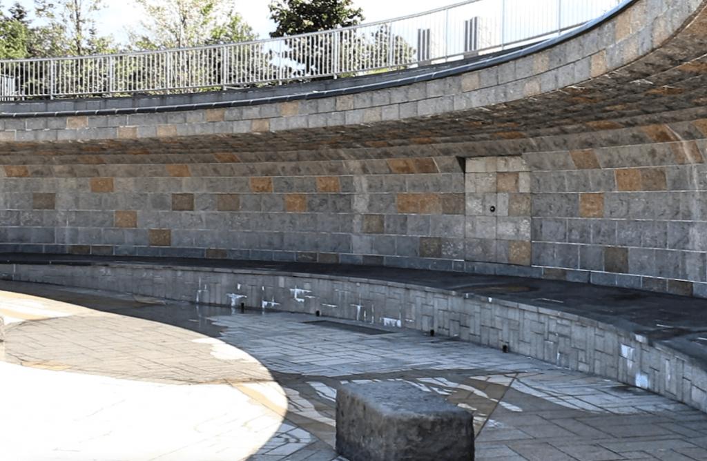 川下公園 壁泉