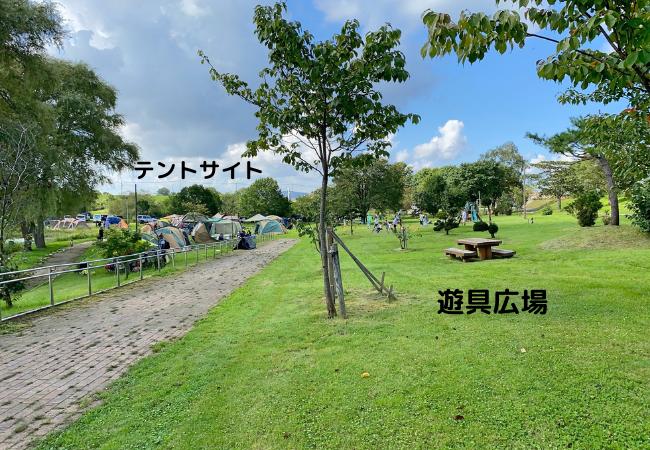 皆楽公園 テントサイト