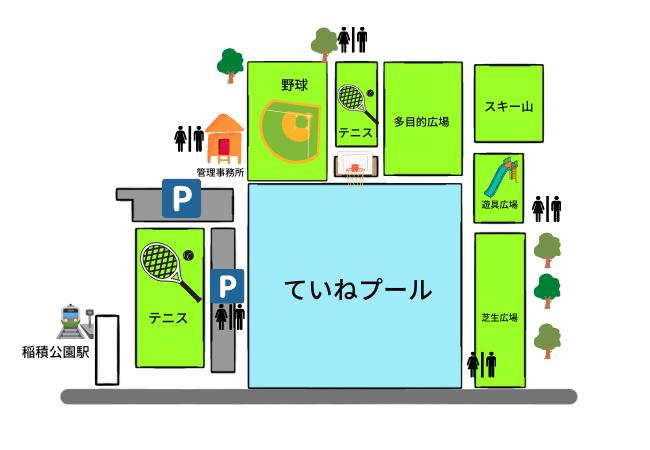 稲積公園 全体図