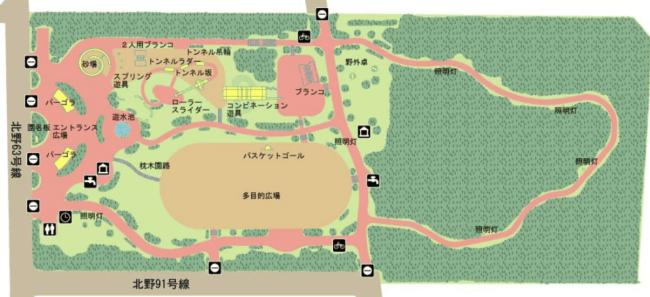 北野ふれあい公園園内図