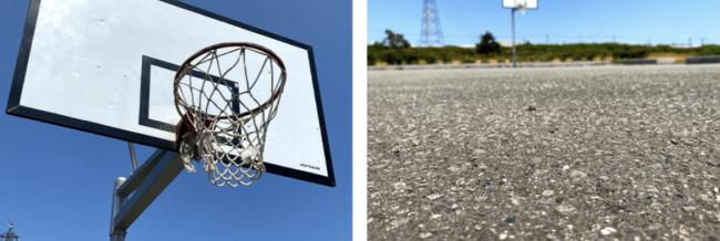 豊平川緑地バスケット