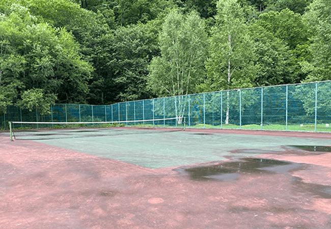 層雲峡オートキャンプ場テニスコート