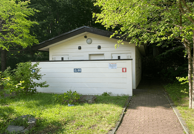 国営滝野すずらん丘陵公園渓流ゾーントイレ
