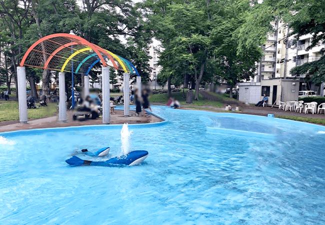 東札幌公演水遊び