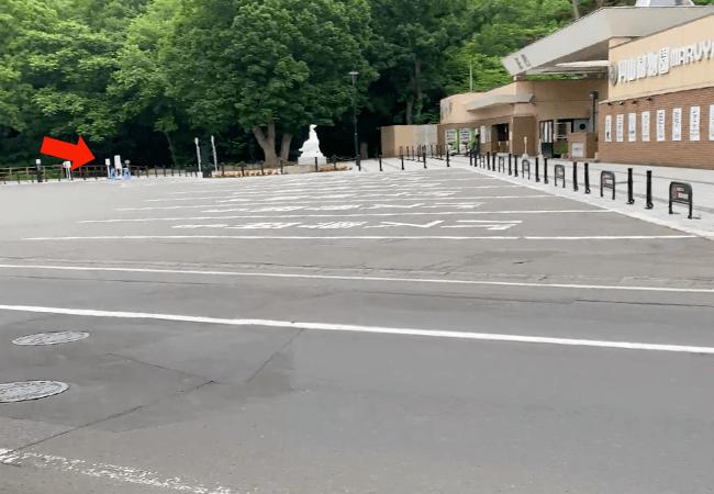 円山登山入り口