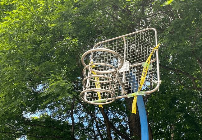 曙西緑地バスケットゴール