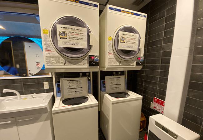 層雲峡オートキャンプ場洗濯機,乾燥機