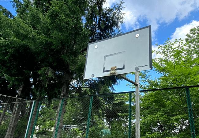 金山公園バスケットゴール