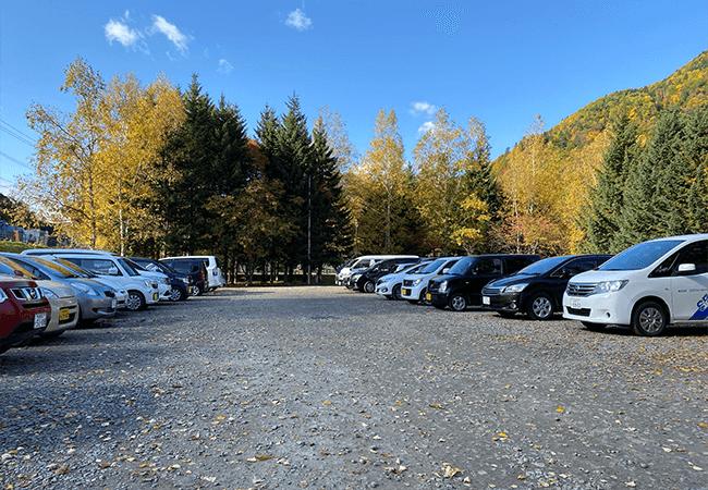 定山渓温泉駐車場