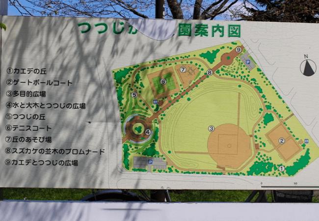 つつじヶ丘公園案内図