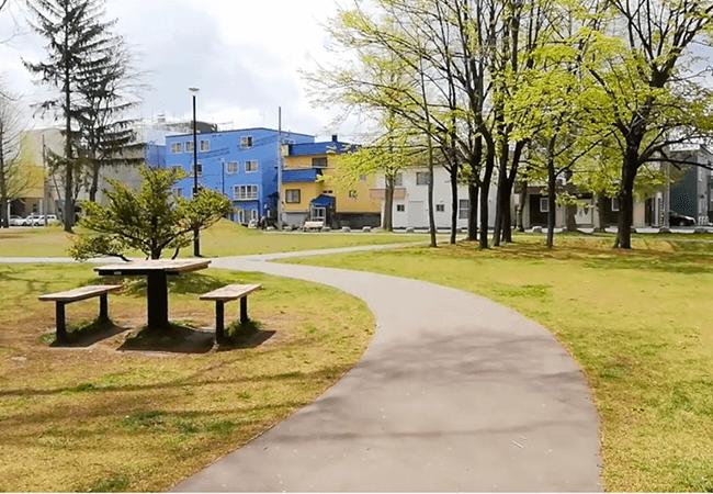 もつき公園テーブルベンチ