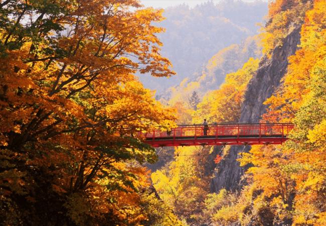定山渓二見公園 二見吊橋