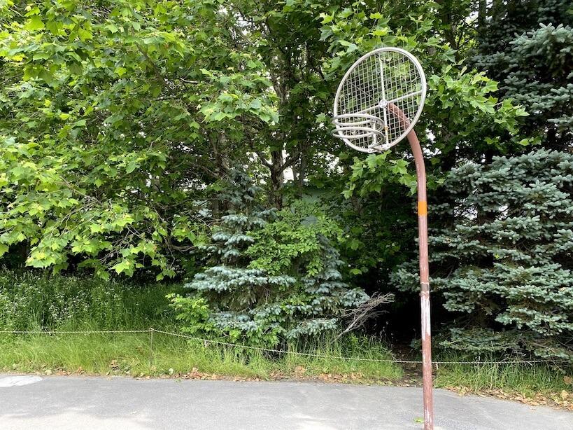 百合が原公園のバスケットゴール