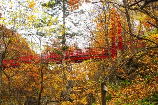 定山渓二見吊橋